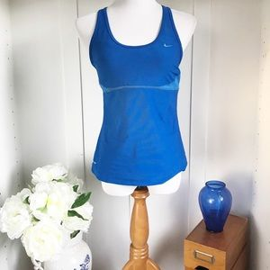 Nike Blue Dri-Fit Activewear Tank Top